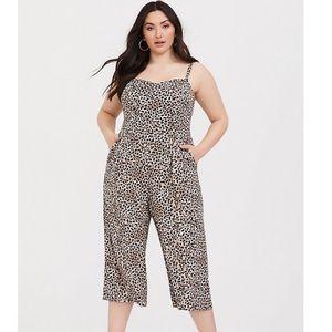 Torrid Leopard jumpsuit never worn , dry cleaned